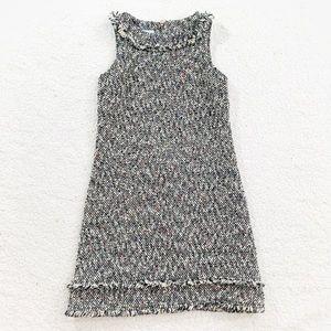 Sara Campbell confetti tweed wool blend shift dres